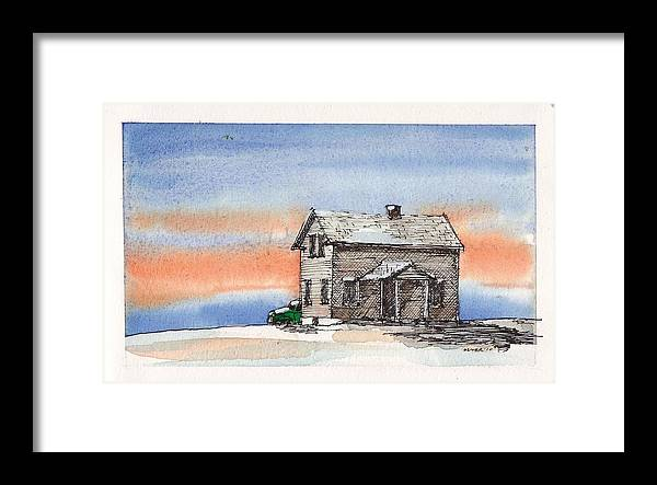 Framed Print featuring the mixed media Sunset Snow by Tim Oliver