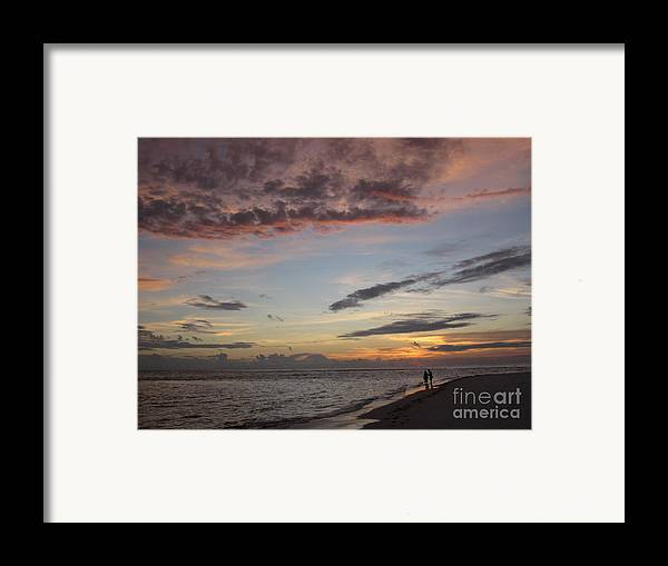 Sunset Framed Print featuring the photograph Sunset Stroll by Elizabeth Carr