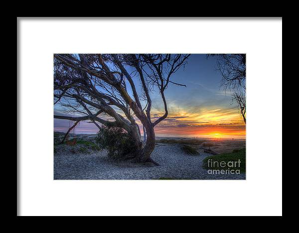 Sunset Framed Print featuring the photograph Sunset Swing by Mathias