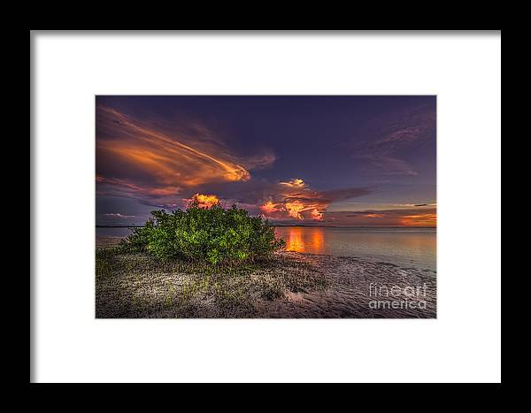 Clearwater Framed Print featuring the photograph Sunset Thunder Storms by Marvin Spates