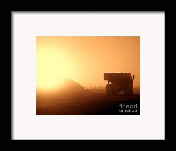 Truck Framed Print featuring the photograph Sunset Truck by Olivier Le Queinec