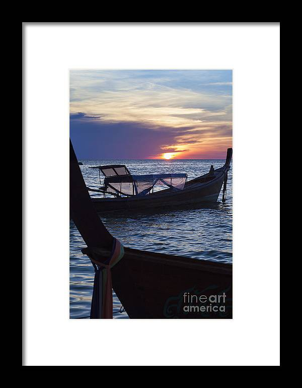 Andaman Framed Print featuring the photograph Sunset View From Sunset Beach On Ko Lipe Island In Thailand by Roberto Morgenthaler
