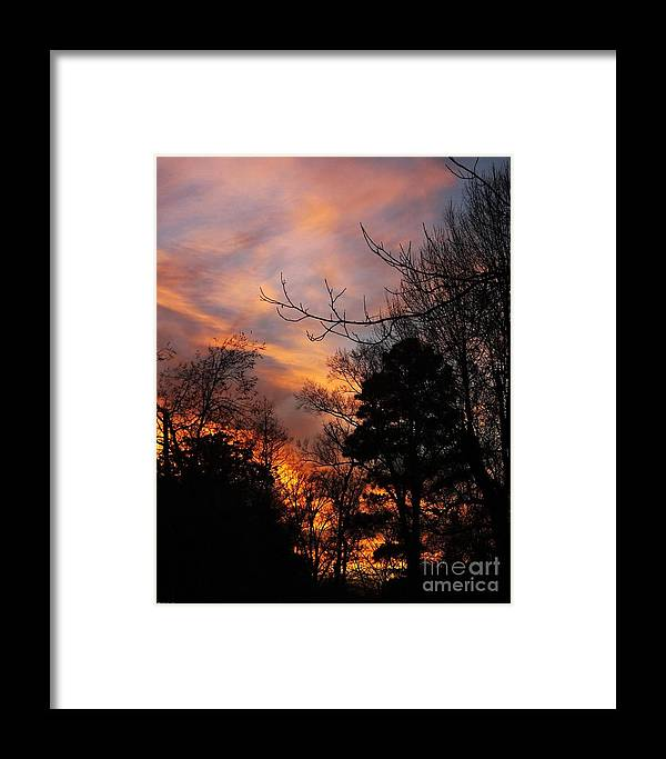 Sunset Framed Print featuring the photograph Sunset View From The Path by Lizi Beard-Ward
