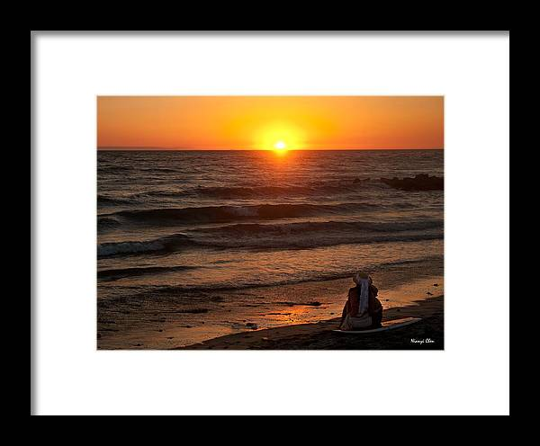 Sunset Framed Print featuring the photograph Sunset Watching by Nian Chen