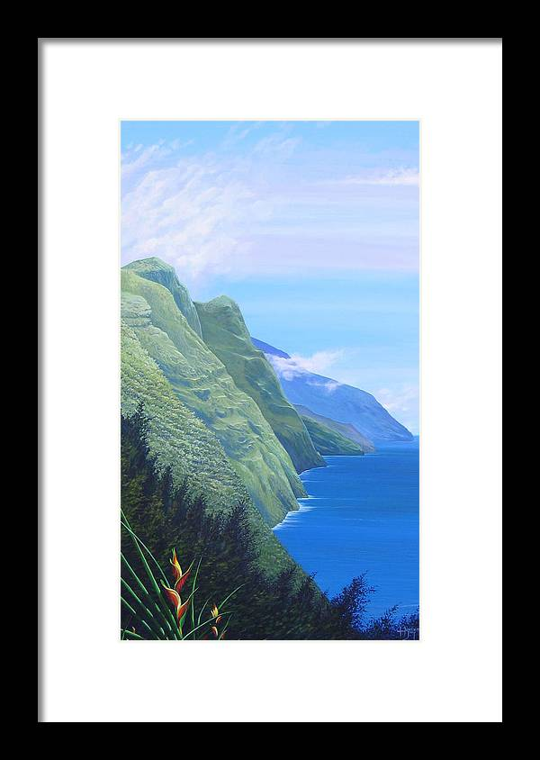 Landscape Framed Print featuring the painting Sunshine In The Shade by Hunter Jay