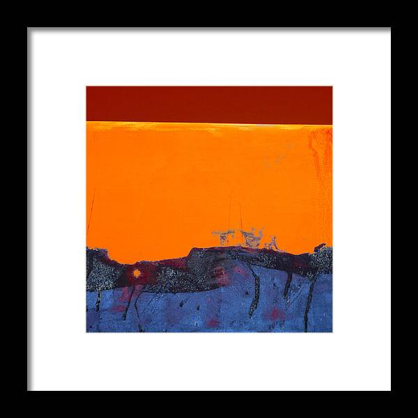 Red Framed Print featuring the photograph Sunstorm No. 2 by Carol Leigh