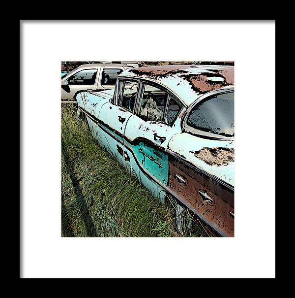 Chevy Framed Print featuring the digital art Super Chevy II by Cathy Anderson