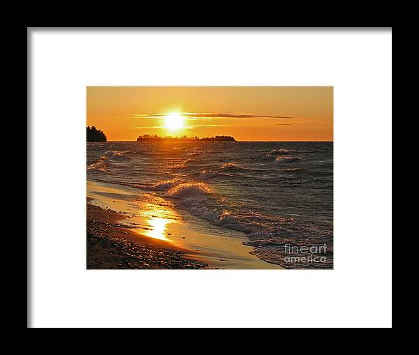 Sunset Framed Print featuring the photograph Superior Sunset by Ann Horn