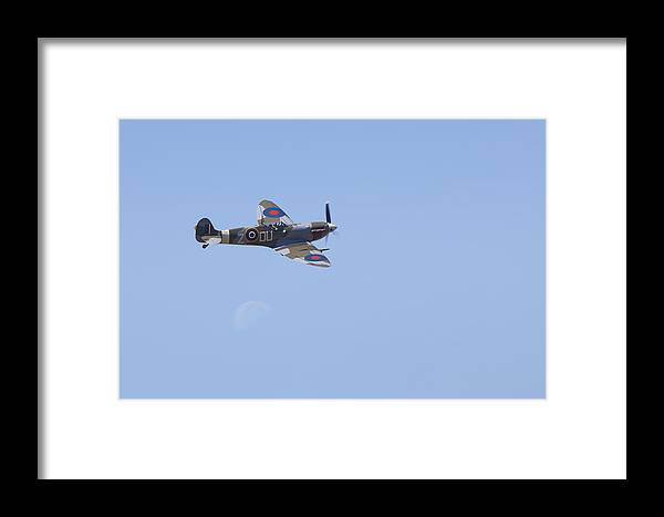 Images In Light Framed Print featuring the photograph Supermarine Mk.vc Spitfire by Ross Murphy