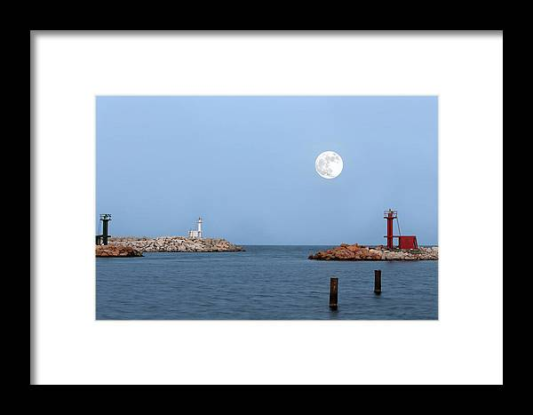 Moon Framed Print featuring the photograph Supermoon by Paul Fell