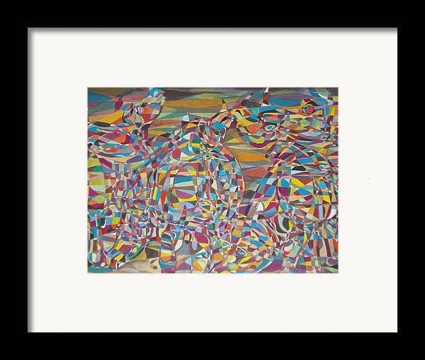 Rhinoceros Framed Print featuring the painting Supersonic Dynamics by Prasenjit Dhar