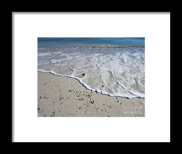 Beach Framed Print featuring the photograph Surf by Nancy Worrell