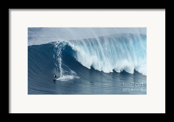 Surf Framed Print featuring the photograph Surfing Jaws 5 by Bob Christopher