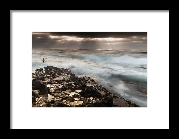 Pacific Ocean Framed Print featuring the photograph Surf's Up by Chuck Jason