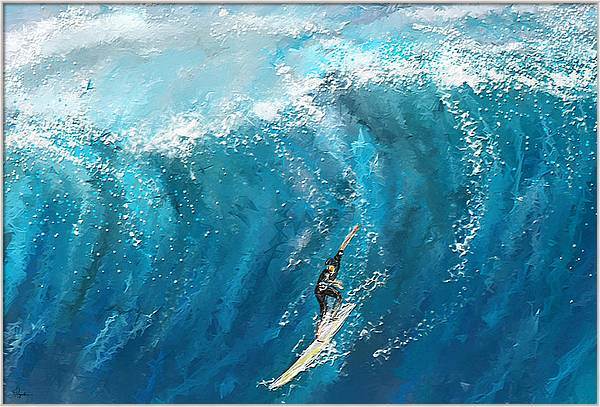 Surf's Up- Surfing Art by Lourry Legarde