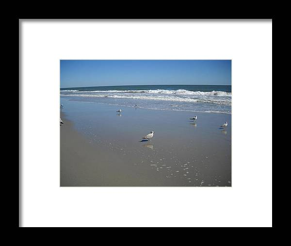 Framed Print featuring the photograph Surfside by Vennie Deas Moore