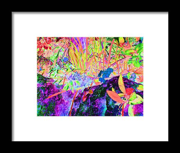 Computer Graphics Framed Print featuring the photograph Surreal Abstract Of Flora And Fauna by Marian Bell
