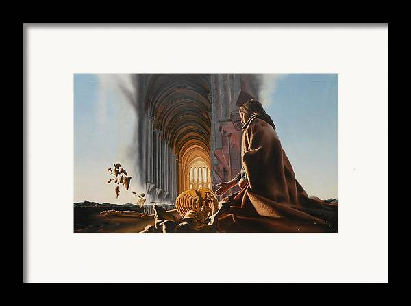 Surreal Framed Print featuring the painting Surreal Cathedral by Dave Martsolf