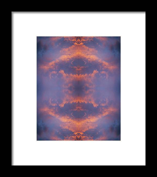 Orange Color Framed Print featuring the photograph Surreal Flaming Clouds In Dramatic Skies by Silvia Otte
