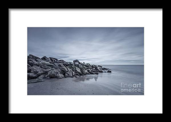 Brighton Beach Framed Print featuring the photograph Surrender To The Sea by Evelina Kremsdorf