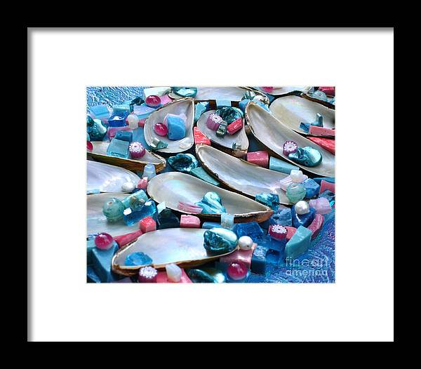 Turquoise Framed Print featuring the photograph Surrender by Valerie Fuqua