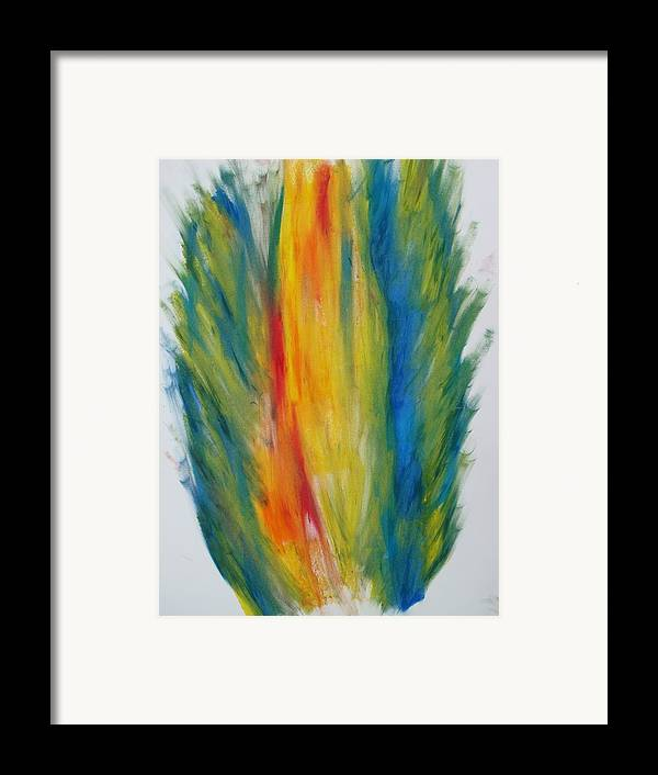Oil Framed Print featuring the digital art Surround Flame by Martin Fried MD