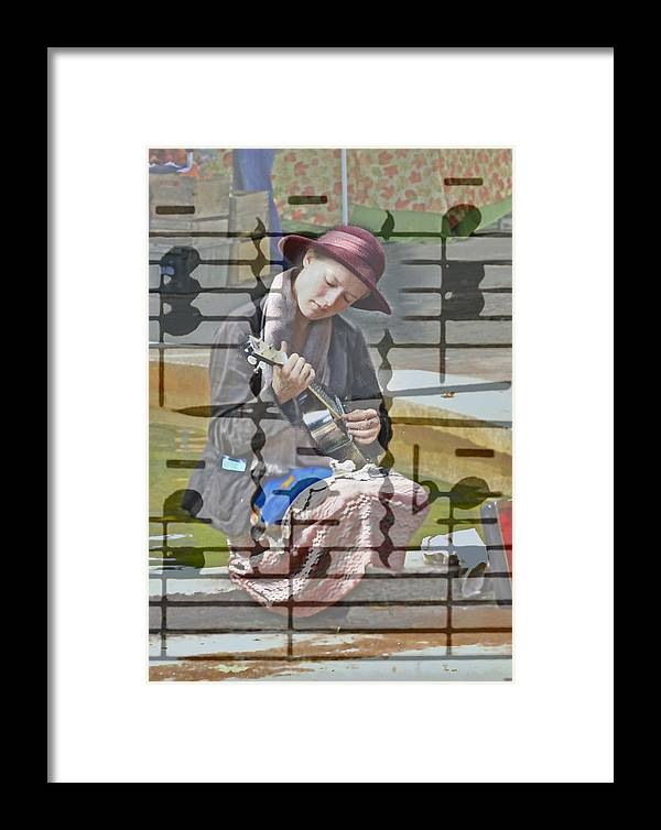 Guitar Framed Print featuring the photograph Surrounded By Music by David Kehrli