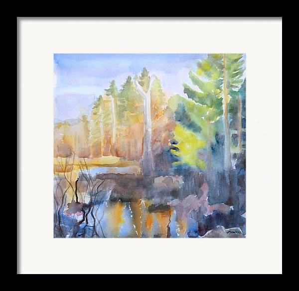 Maine Framed Print featuring the painting Swamp Color by Grace Keown