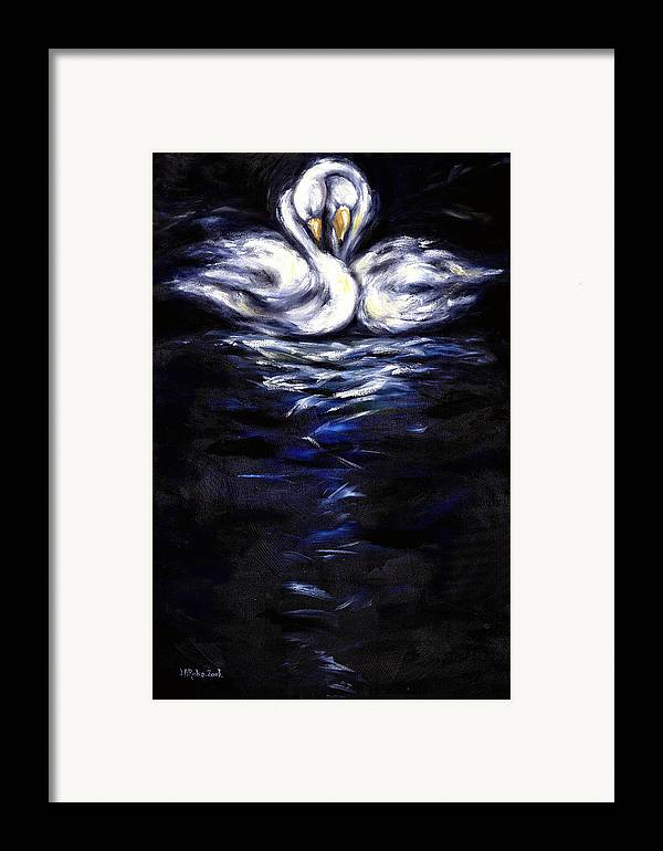 Bird Framed Print featuring the painting Swan by Hiroko Sakai