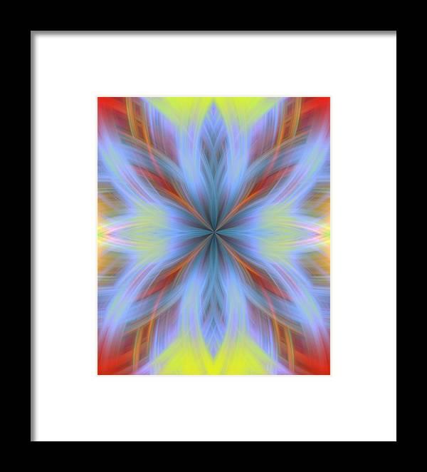 Sweeping Star Burst Framed Print featuring the digital art Sweeping Star Burst 1 by Devalyn Marshall