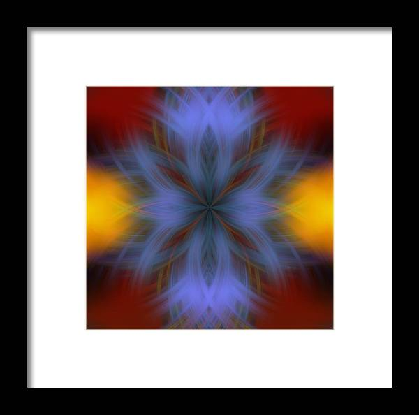 Sweeping Star Burst Framed Print featuring the digital art Sweeping Star Burst 3 by Devalyn Marshall