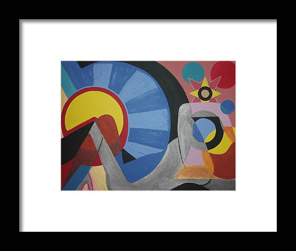Abstract Framed Print featuring the painting Sweet Dreams are made of these by Dean Stephens