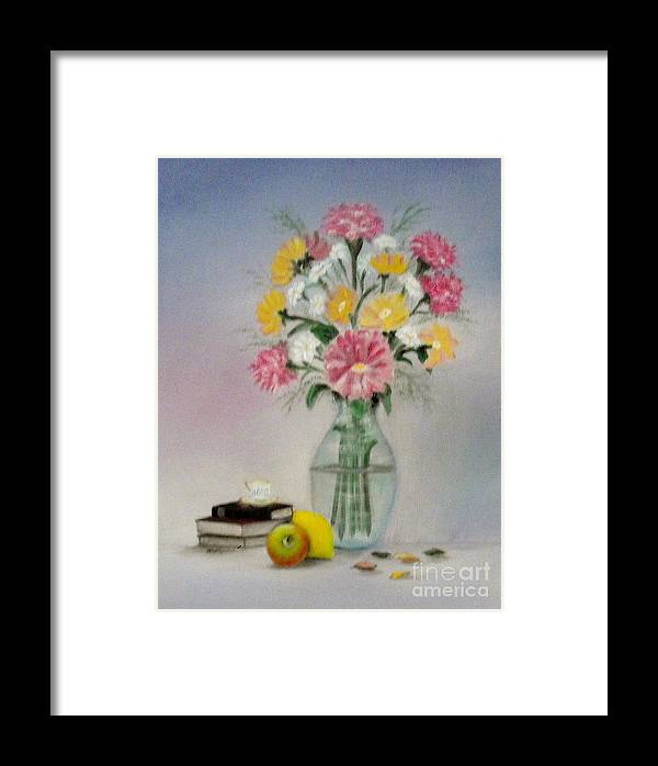 Life Style Framed Print featuring the painting Sweet Moment by Magdalena Morataya