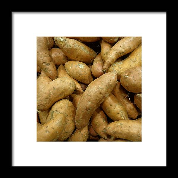 Joseph Skompski Framed Print featuring the photograph Sweet Potatoes by Joseph Skompski