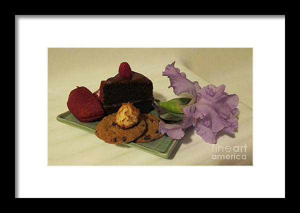 Frosted Framed Print featuring the photograph Sweet Presentation by Arlene Carmel