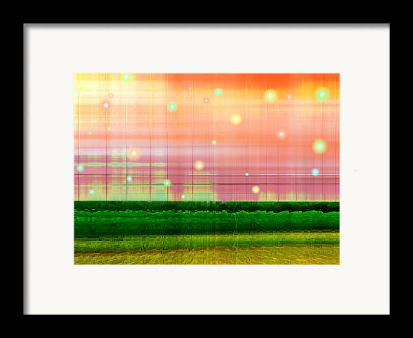 Abstract Framed Print featuring the digital art Sweet Tuesday Morning by Wendy J St Christopher