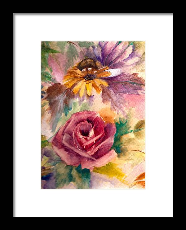 Flowers Framed Print featuring the painting Sweetness by Ellen Canfield