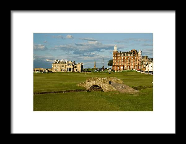 St. Andrews Framed Print featuring the photograph Swilken Bridge by Jeremy Voisey