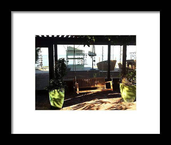 Landscape Framed Print featuring the photograph Swing In The Arbor by Lynn Hall