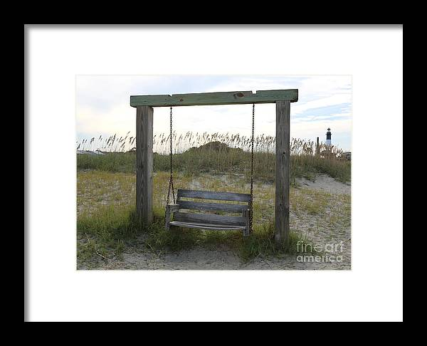 Beach Framed Print featuring the photograph Swing On The Beach by Carol Groenen
