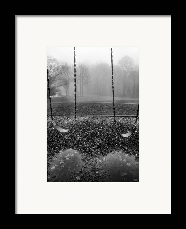 Swings Framed Print featuring the photograph Swing Seats I by Steven Ainsworth