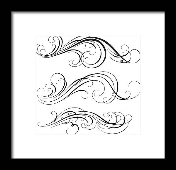 Curve Framed Print featuring the digital art Swirl by Mashuk