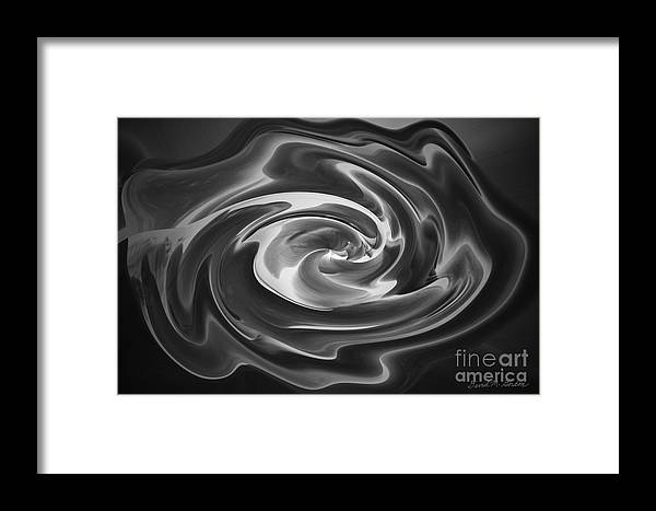 Black Framed Print featuring the photograph Swirl Wave V by David Gordon