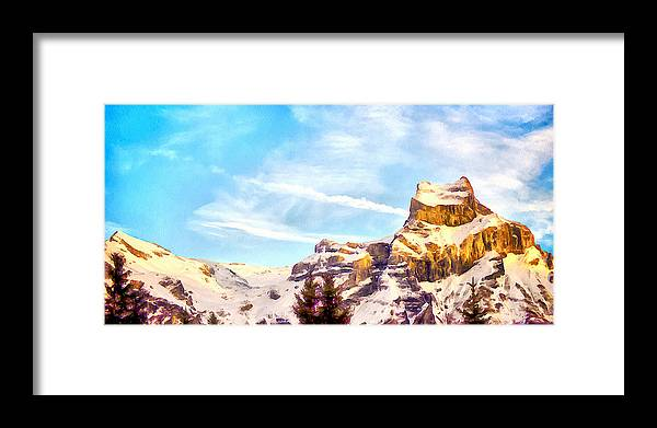 Alps Framed Print featuring the photograph Swiss Alps by Kathryn Bailey