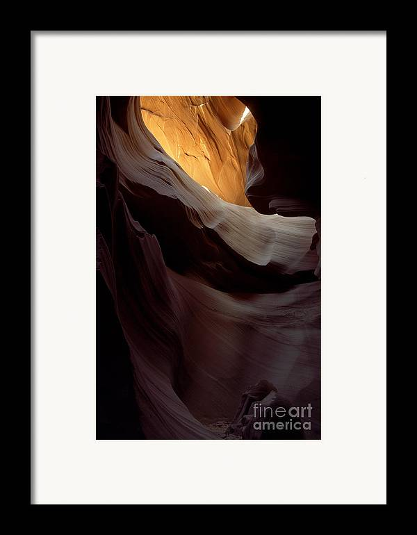 Slot Canyons Framed Print featuring the photograph Swopes by Kathy McClure