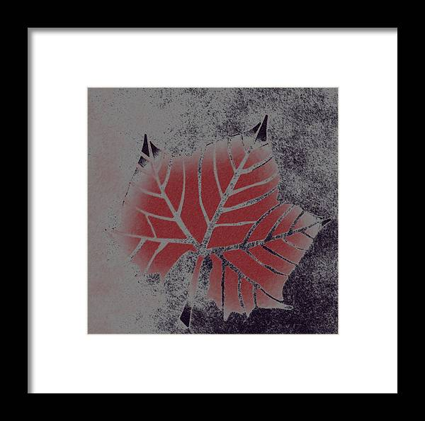 Leaf Framed Print featuring the digital art Sycamore Leaf by Lovina Wright