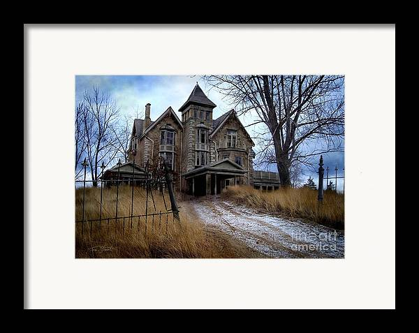 Haunted Mansion Framed Print featuring the digital art Sydenham Manor by Tom Straub