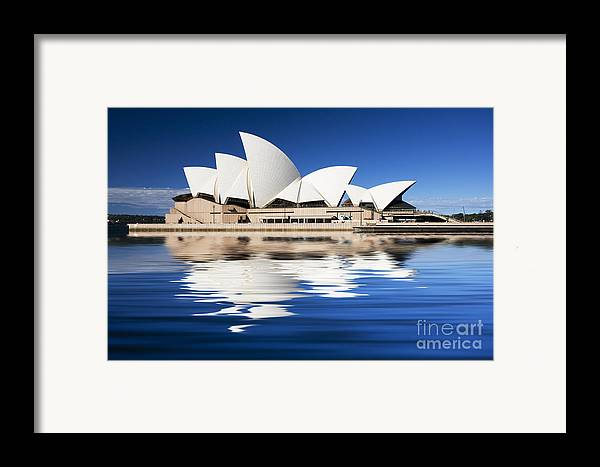 Sydney Opera House Framed Print featuring the photograph Sydney Icon by Sheila Smart Fine Art Photography