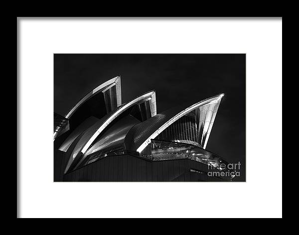 Opera Framed Print featuring the photograph Sydney Opera House At Night by Tim Ferrier