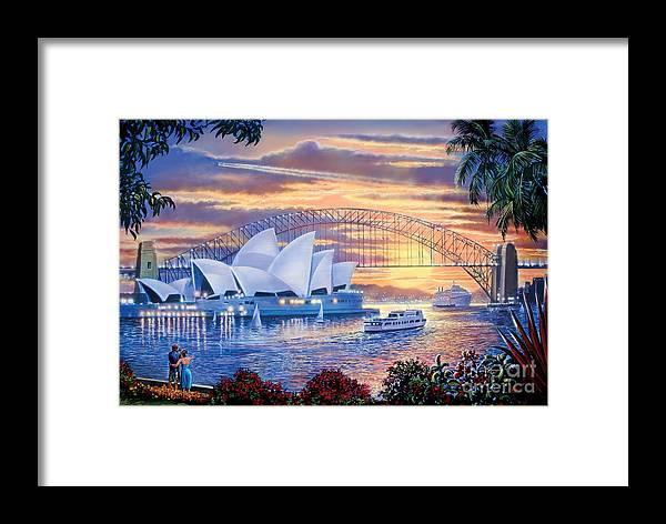 Steve Crisp Framed Print featuring the digital art Sydney Opera House by Steve Crisp